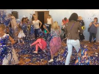 Открытие детского модельного агентства KidsTimeAkademy - Бумажная дискотека (2.09.17 г)