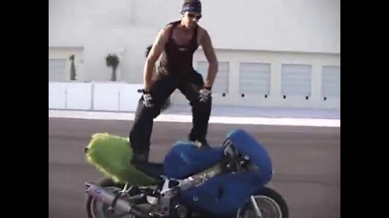 Kyle Woods motorcycle stunts strippers beer crashes 1 of 6