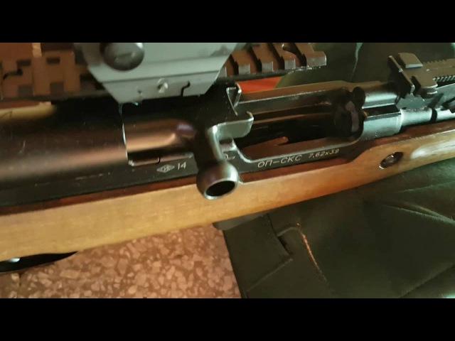 СКС пристрелка коллиматора Holosun HS 403A (часть 2).