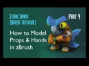 3D Modeling Cartoon Props and Hands in zBrush - Scuba Shark Tutorial PART 4