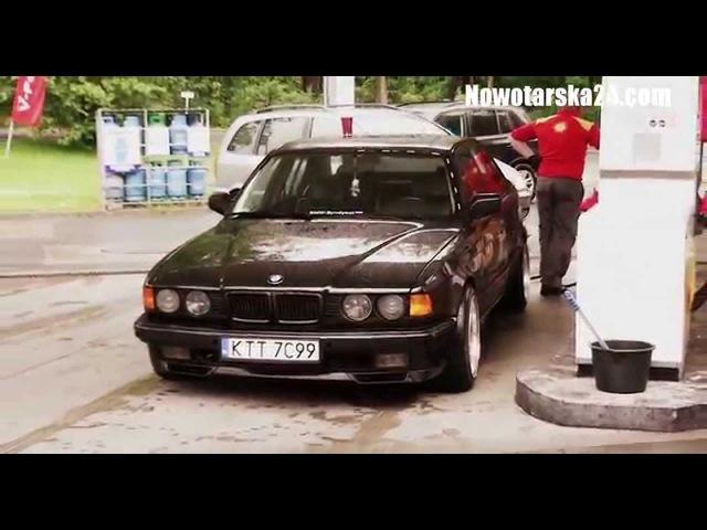 BMW e32 730i V8 ac schnitzer wheels Maciej Wnuk Paweł Gawroński 28.06.2015 Zakopane Nowotarska24.com