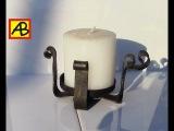 Самодельный,кованый подсвечник.How to make a homemade candle.