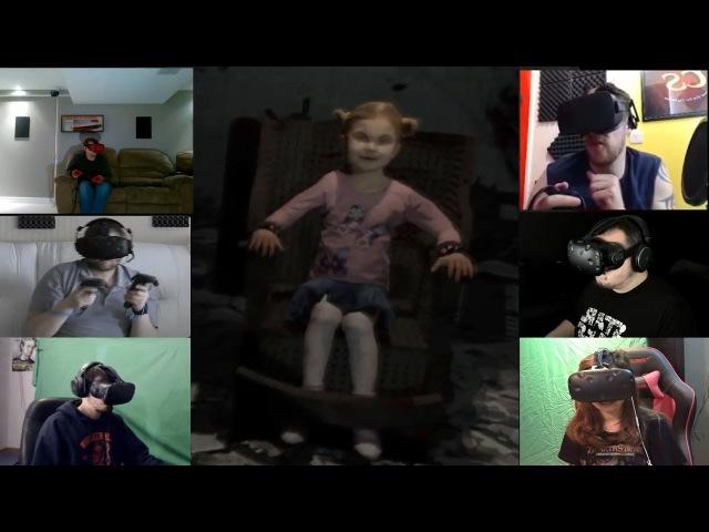 Реакция Ютуберов на Девочку на Электрическом Стуле в Игре Mental Asylum VR