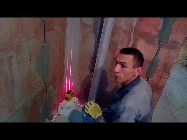 Установка прямых углов 90 градусов по лазеру