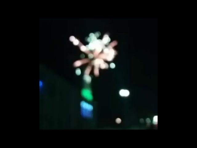 Новогодний салют в Карасу в честь Нового 2018 года (Карасуский район)