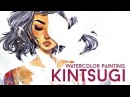 KINTSUGI Watercolor Painting Process Jacquelindeleon