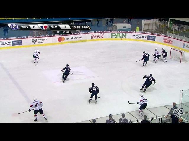 Моменты из матчей КХЛ сезона 16/17 • Удаление. Горан Безина (Медвешчак) отправился в штрафной бокс за подножку 30.09