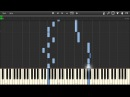 Nightwish While Your Lips Are Still Red Piano tutorial Synthesia