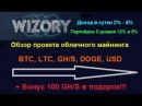 Wizory.cc - облачный майнинг бонус 100 GH/s в подарок