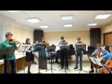 И.С. Бах. Бранденбургский концерт № 3. BWV 1048 - концерт НГУ 11.12.2015