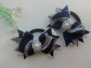 Бантики Канзаши из лент 2 5 см Мастер Класс Bows Kanzashi tape 2 5 cm Master Class