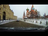 Driving in real time - Moscow City Center and the Kremlin in Winter 1440p