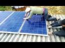Солнечная СЭС 16 кВт. Ч.3 финал монтажа ,3день