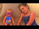 Кукла Беби Бон заснула на пляже. Doll Baby Bon fell asleep on the beach. Video for kids