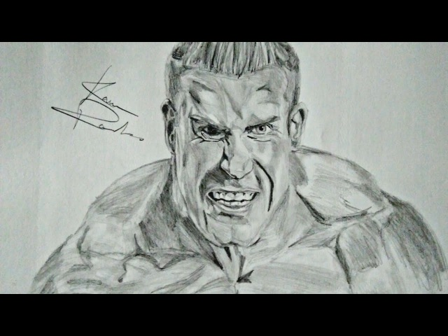 Drawing Jay Cutler, Mr. Olympia four times