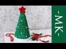 Ёлка крючком из трикотажной пряжи Новогодний декор