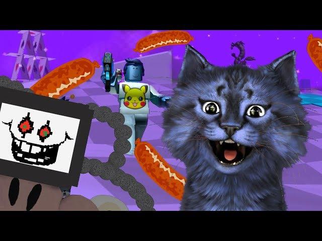 БЛАСТЕР из КОЛБАСЫ / БИТВА С БОССАМИ в РОБЛОКС / ROBLOX Boss Battle Mini-Games 3