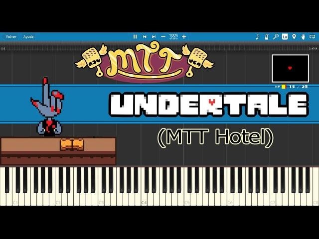MTT Hotel - Undertale (Piano Tutorial)