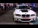 BEAST! bmw e46 v10 s85 drift, burnout ,flames , screaming like f1