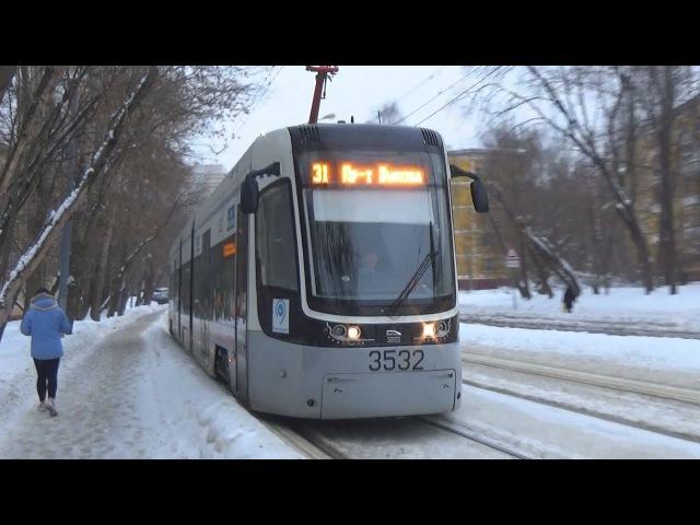 Трамвай 71-414 Pesa-Fokstrot №3532 с маршрутом №31