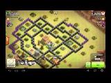Clash of Clans Драконы - лучшая защита тх8. clan war(клан вар)!