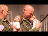 Precious Moments: Funny Babies Reaction to Dad Coming Home |  Funny Babies