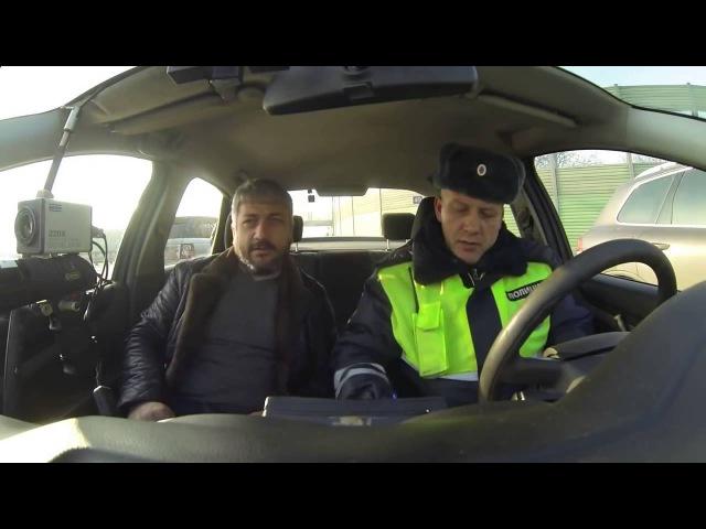 ГИБДДшник нарвался на опытного водителя Такого не разведешь! Общение с ГИБДД