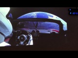 SpaceX Tesla Car in Space Around Earth