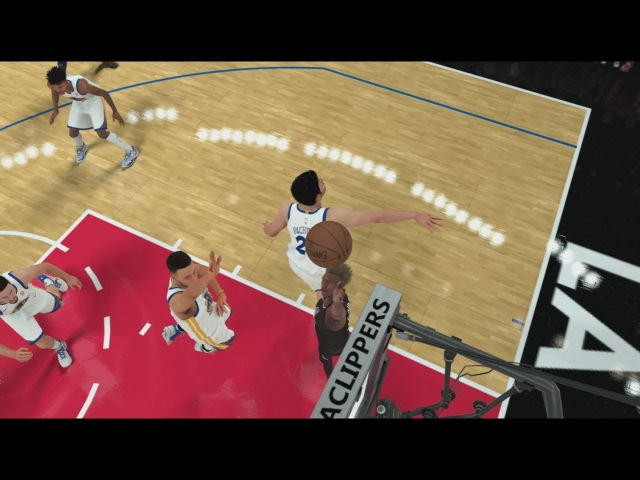 NBA 2K18 My Career 47 Warriors vs Clippers New Badge