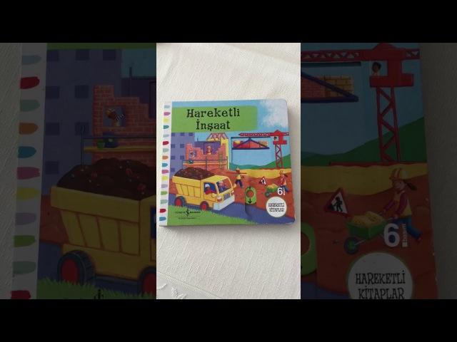 Hareketli İnşaat2-5 Yaş Çocuk Kitabı