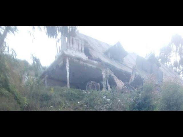 Asi quedo la casa donde estaba Oscar Perez les volaron el techo y una pared