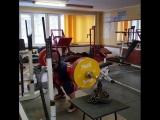 Алексей Никулин - присед 245 кг с цепями
