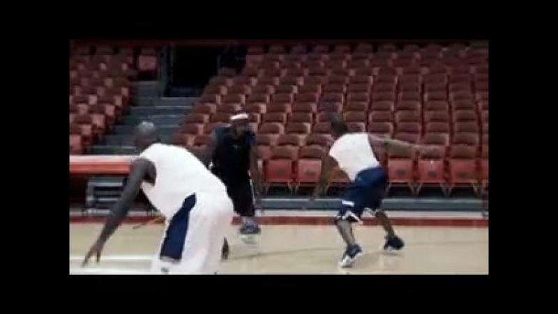LeBron James fake drive