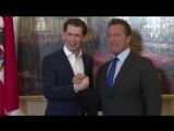 Вена: встреча Себастьяна Курца и Арнольда Шварценеггера