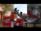 Спасение 7 человек из общежития в Молодечно