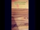 Обработка древесины маслом.