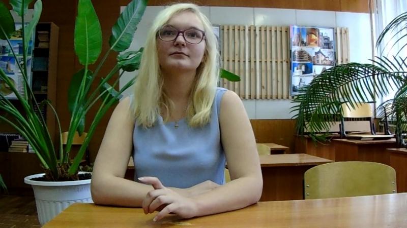 Участница акции Живая вода - Войнова Александра, студентка Вологодского строительного колледжа.