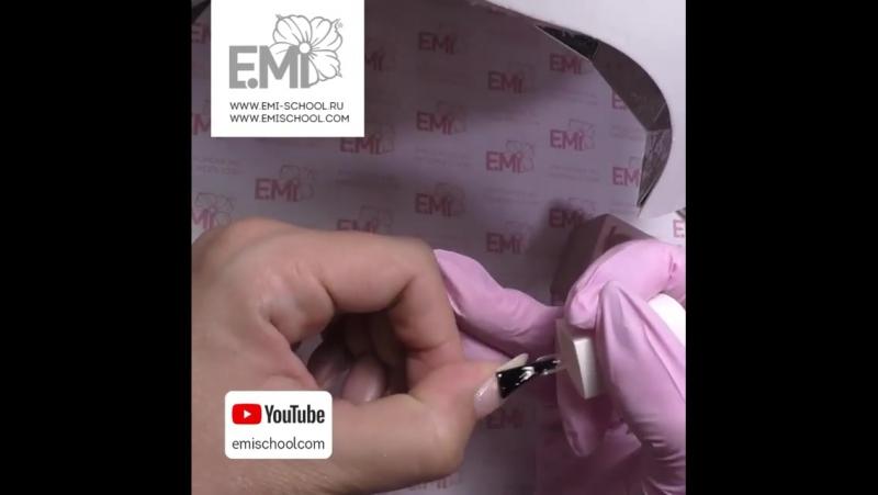 Исправляем деформированный край ногтя гель-лаком