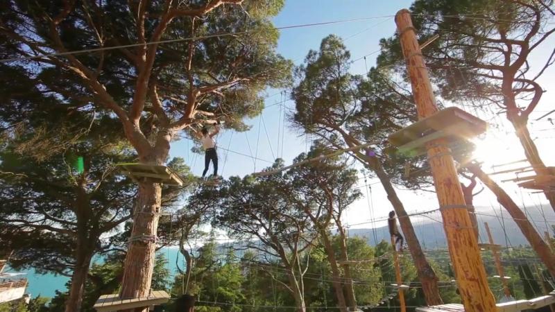 Крупнейший в Крыму веревочный парк в отеле Ялта-Интурист