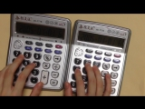 Despacito but its played on two calculators