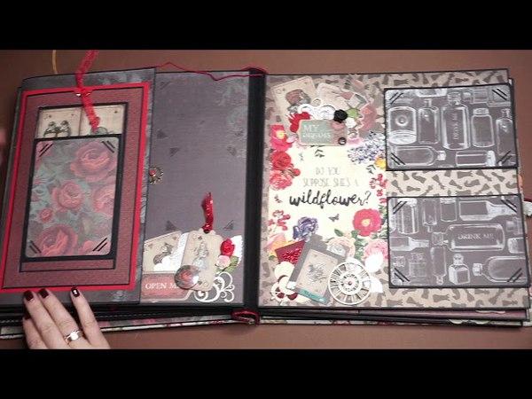 Скрап поп-ап альбом Алиса в стране чудес / Scrap Pop Up Album Alice In Wonderland