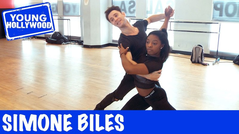 Simone Biles Gives Us a Sneak Peak Into Her DWTS Rehearsal!