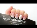 Дизайн ногтей гель лаком с трафаретами RockNailStar Маникюр со снежинкой Необы