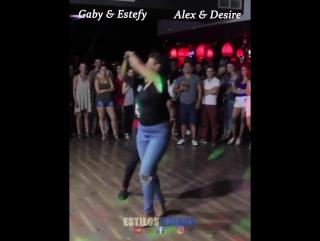 Batalla Epica De Dominican Style Entre Gaby Estefy y Alex y Desiree Godse