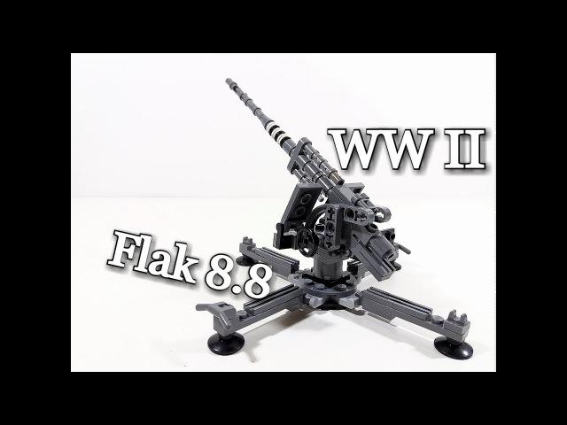 MOC Lego: Flak 8.8 Instruction (HD)/ инструкция к зенитке.