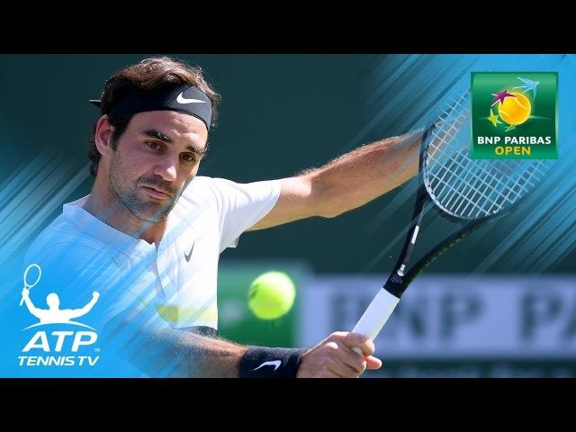 Roger Federer hits audacious drop shot winner! | Indian Wells 2018