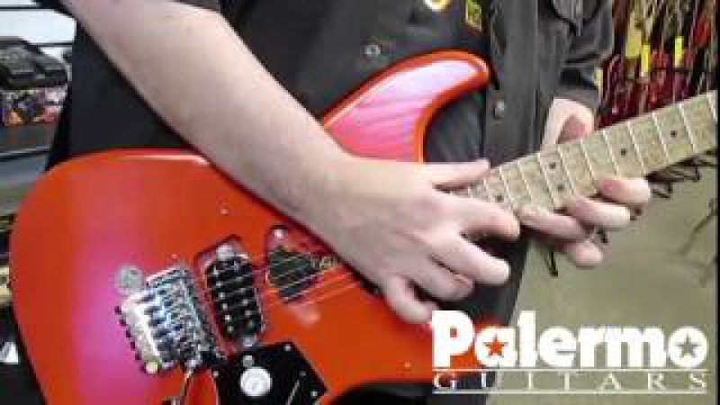 Palermo Guitars PG3 Fiesta Red with EVH Frankenstein Pickup