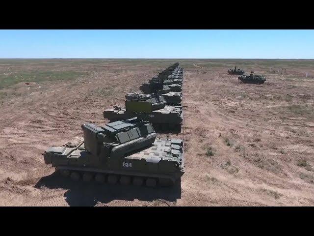 Учения зенитчиков на полигоне Капустин Яр под Астраханью