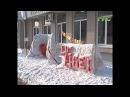 Ледовая скульптура появилась на проспекте Ленина