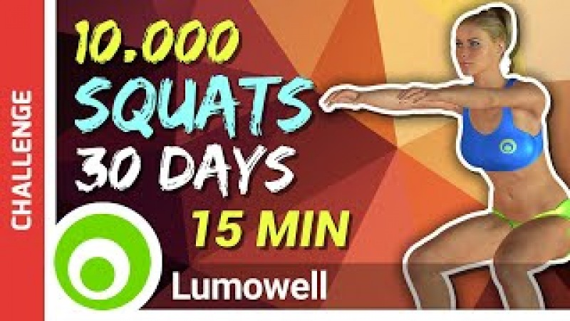 30 Day 10 000 SQUAT Challenge Perfect Butt And Thigh Workout